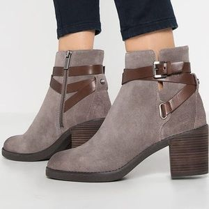 Michael Kors Fawn Suede Ankle Boots in Storm Grey
